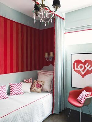 Red and Turquoise Home Decor