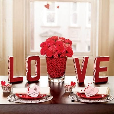 Valentines Day Table Decorations- Gorgeous!!