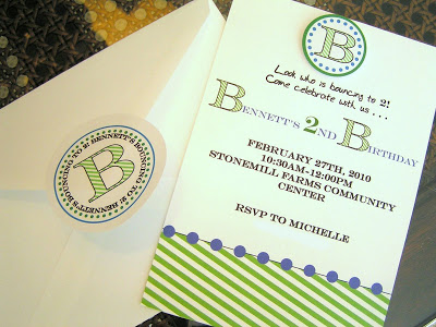 Bennett's Invitations- A Monogram Party