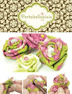 Rolled Fabric Roses {Oh My!!}