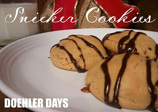 {The Great Cookie Recipes} Snicker Cookies By Doehler Days