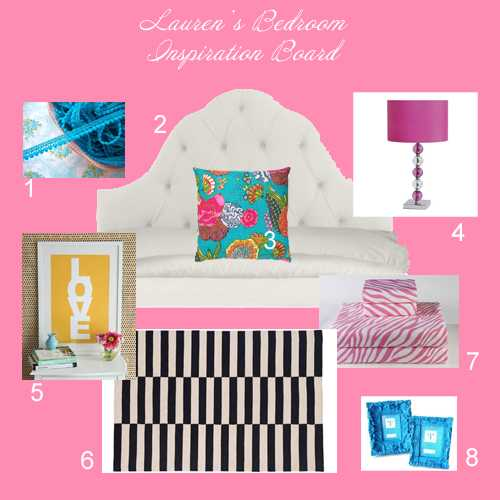 {Our Home} Lauren's Big Girl Room-Inspiration Board