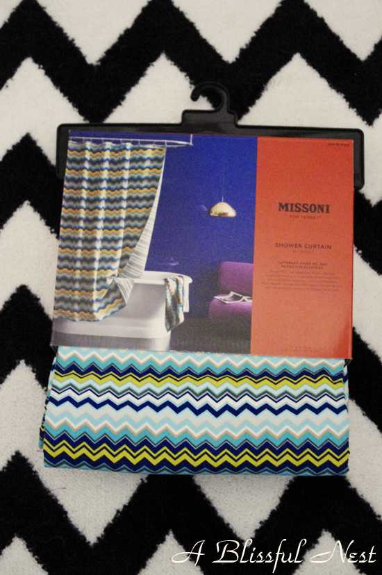 Welcome To Giveaway #3! This One Is For The Missoni Mod Shower Curtain.