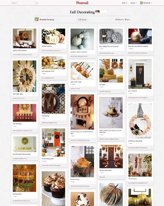 board {Inspiration} Fall Decorating