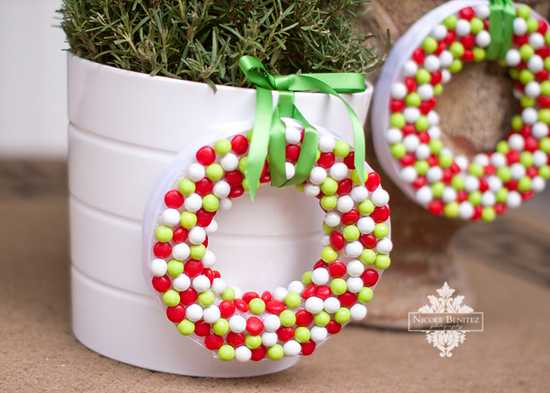 {DIY} Candy Wreath Tutorial