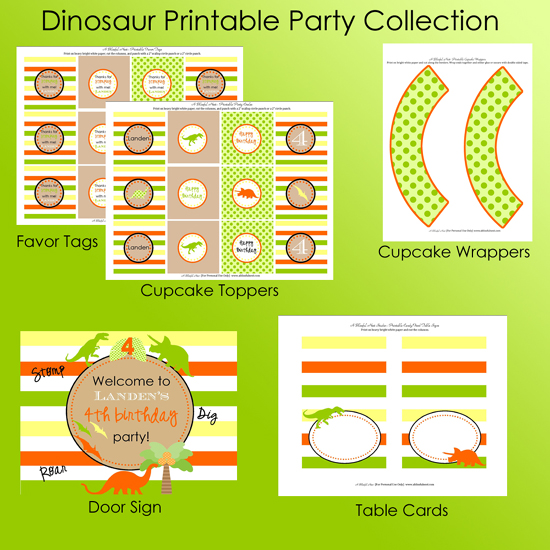 Party Pack 1 for blog {Blissful Customers} Dinosaur ROAR Birthday Party!