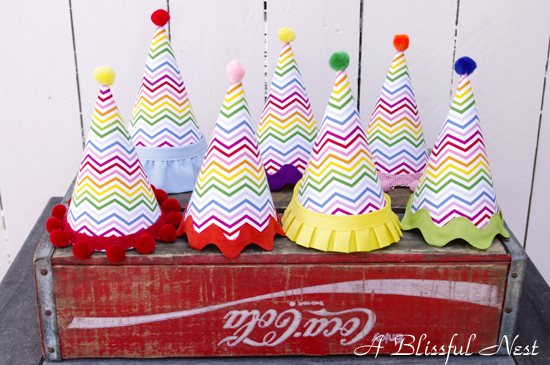 A Blissful Nest Party Hats {Announcement} New Contributor for Project Nursery!!