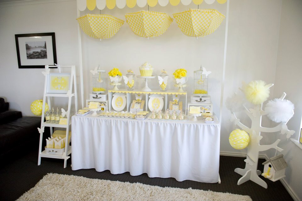 Fairydust Stylish Stationery 005 {BN Black Book of Parties} Bright Yellow and White 12th Birthday Party