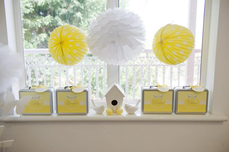 Fairydust Stylish Stationery 008 {BN Black Book of Parties} Bright Yellow and White 12th Birthday Party