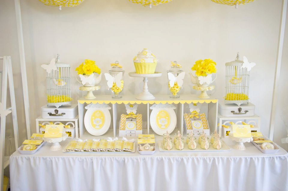 Fairydust Stylish Stationery 009 {BN Black Book of Parties} Bright Yellow and White 12th Birthday Party