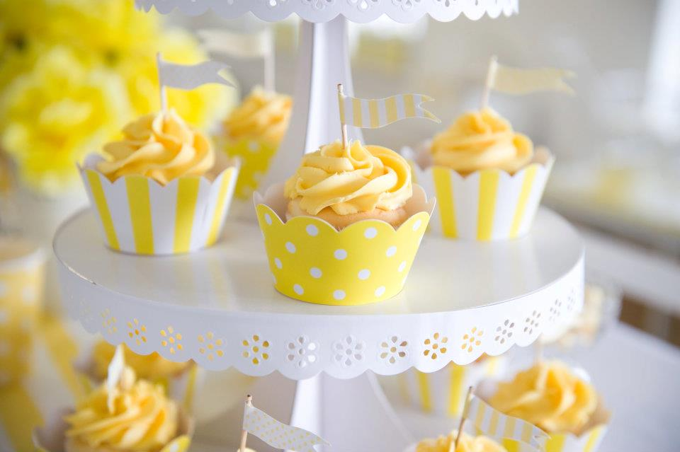 Fairydust Stylish Stationery 011 {BN Black Book of Parties} Bright Yellow and White 12th Birthday Party