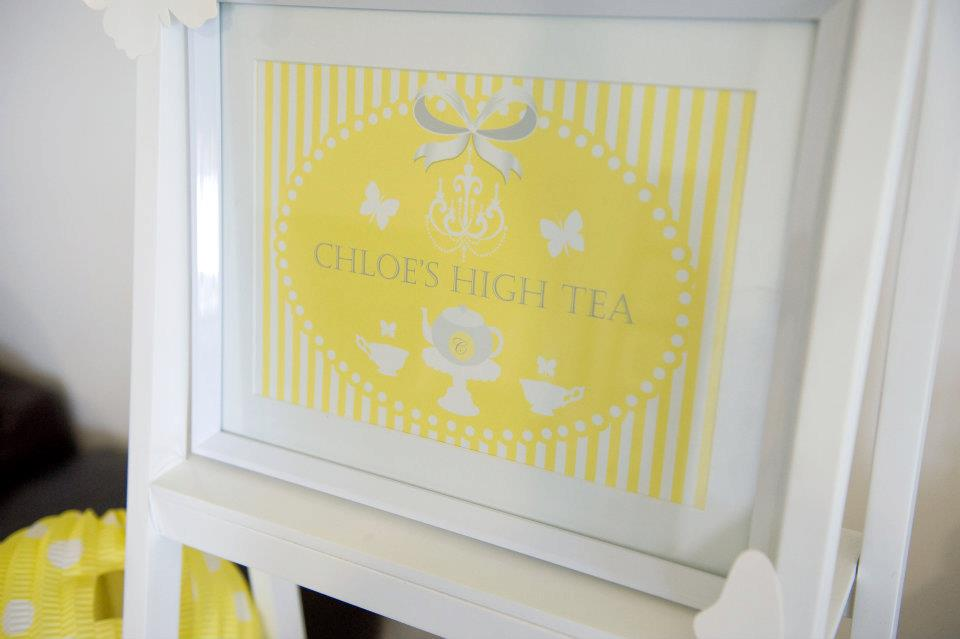 Fairydust Stylish Stationery 015 {BN Black Book of Parties} Bright Yellow and White 12th Birthday Party
