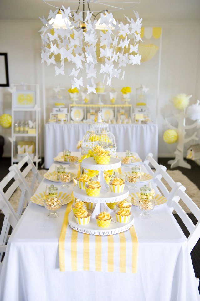 Fairydust Stylish Stationery 016 {BN Black Book of Parties} Bright Yellow and White 12th Birthday Party