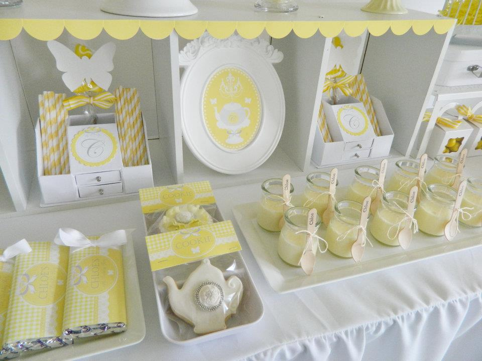 Fairydust Stylish Stationery 017 {BN Black Book of Parties} Bright Yellow and White 12th Birthday Party