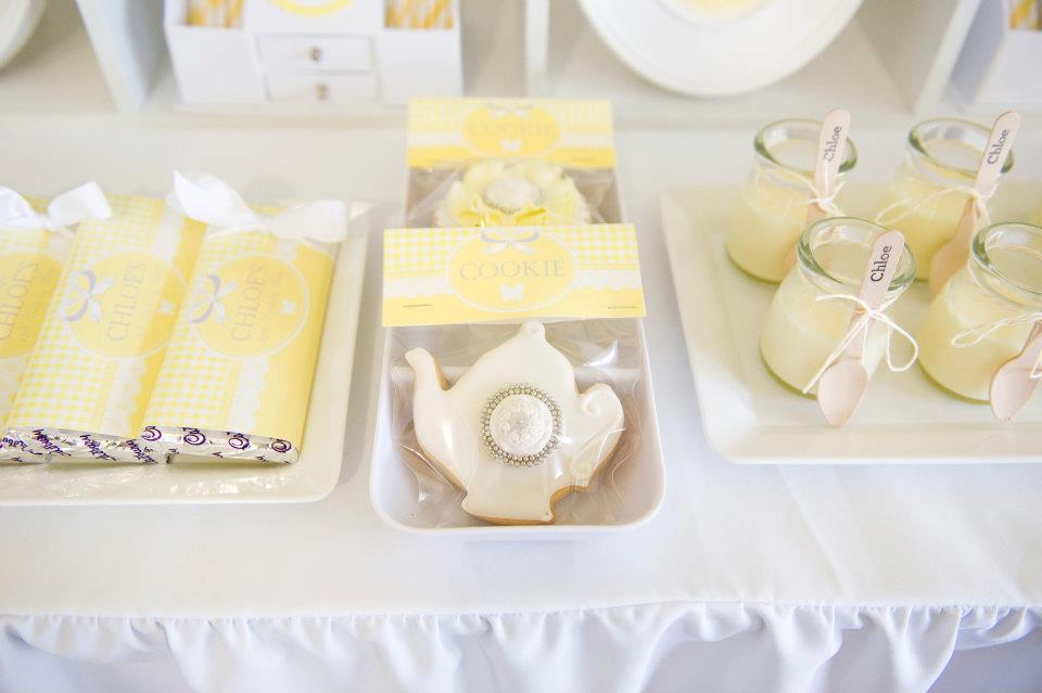 Fairydust Stylish Stationery 020 {BN Black Book of Parties} Bright Yellow and White 12th Birthday Party