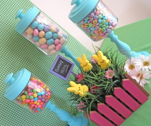 Easter Candlestick Candy Jars Tutorial