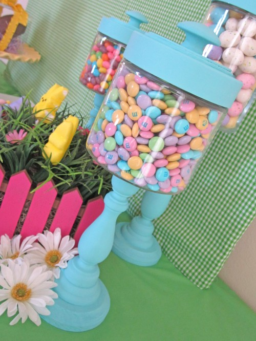 These are the cutest! What a easy Easter Candlestick Candy Jars Tutorial