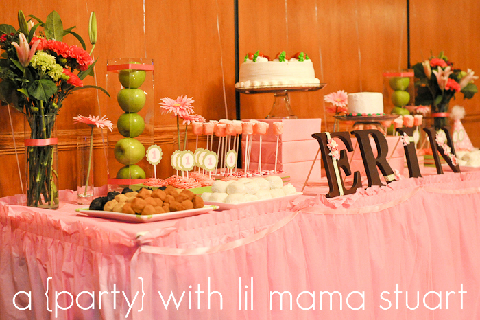 A Blissful Nest Lil Mama Stuart 007 {BN Black Book of Parties} Pink and Green Polka Dot 1st Birthday