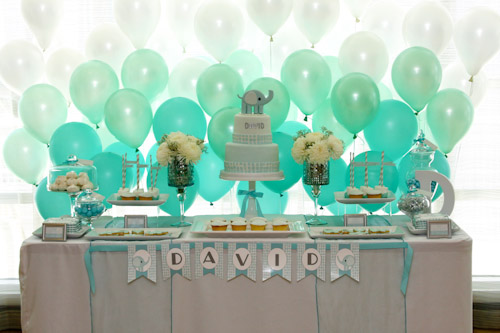 A Blissful Nest Top It Off Designs 5 {BN Black Book of Parties} Modern Elephant Baptism Celebration