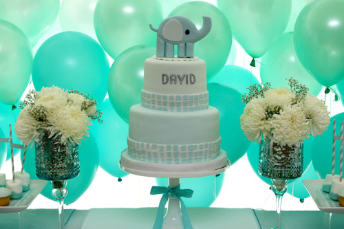 A Blissful Nest Top It Off Designs 8 {BN Black Book of Parties} Modern Elephant Baptism Celebration