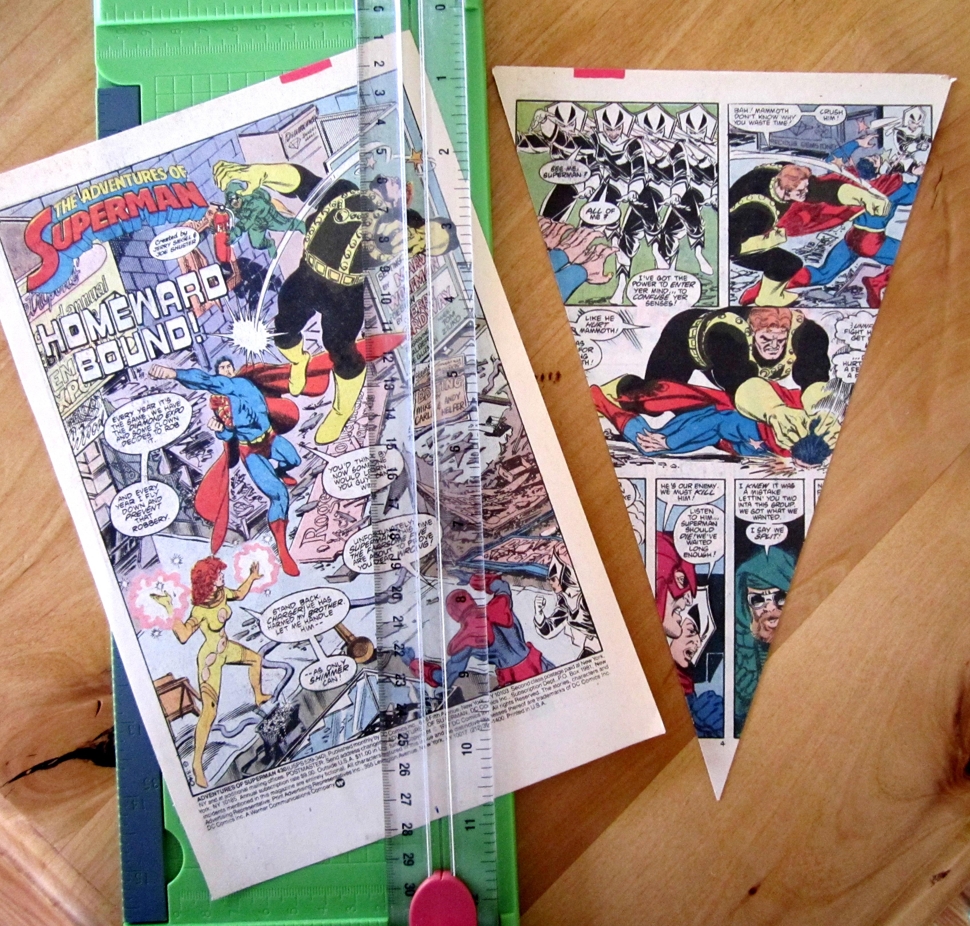 Free Comic Book Day Banner: DIY Comic Book Bunting: Full Tutorial