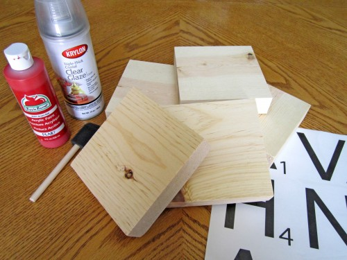 supplies e1343096138464 {DIY Tutorial} Scrabble Blocks!