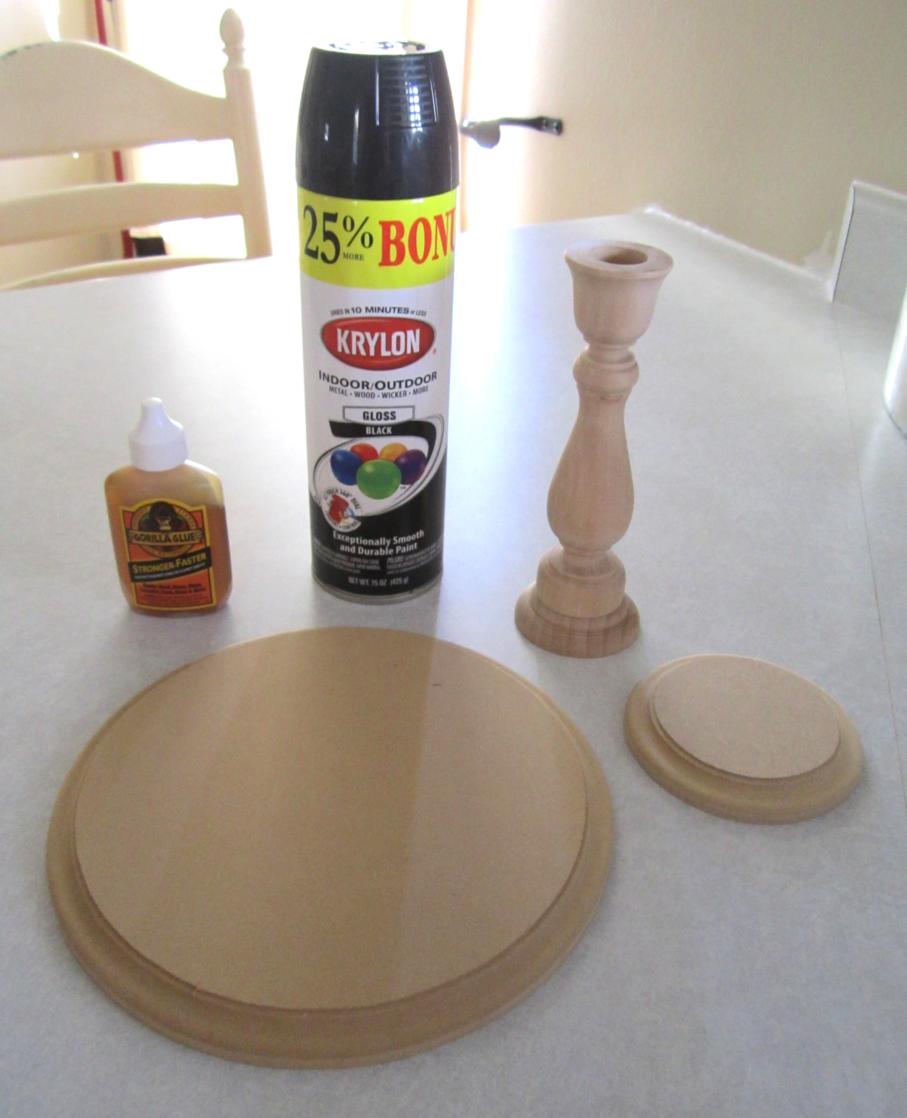diy candlestick cake stand full tutorial a blissful nest. Black Bedroom Furniture Sets. Home Design Ideas