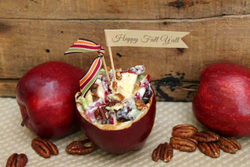 Waldorf Salad Apple Bowls