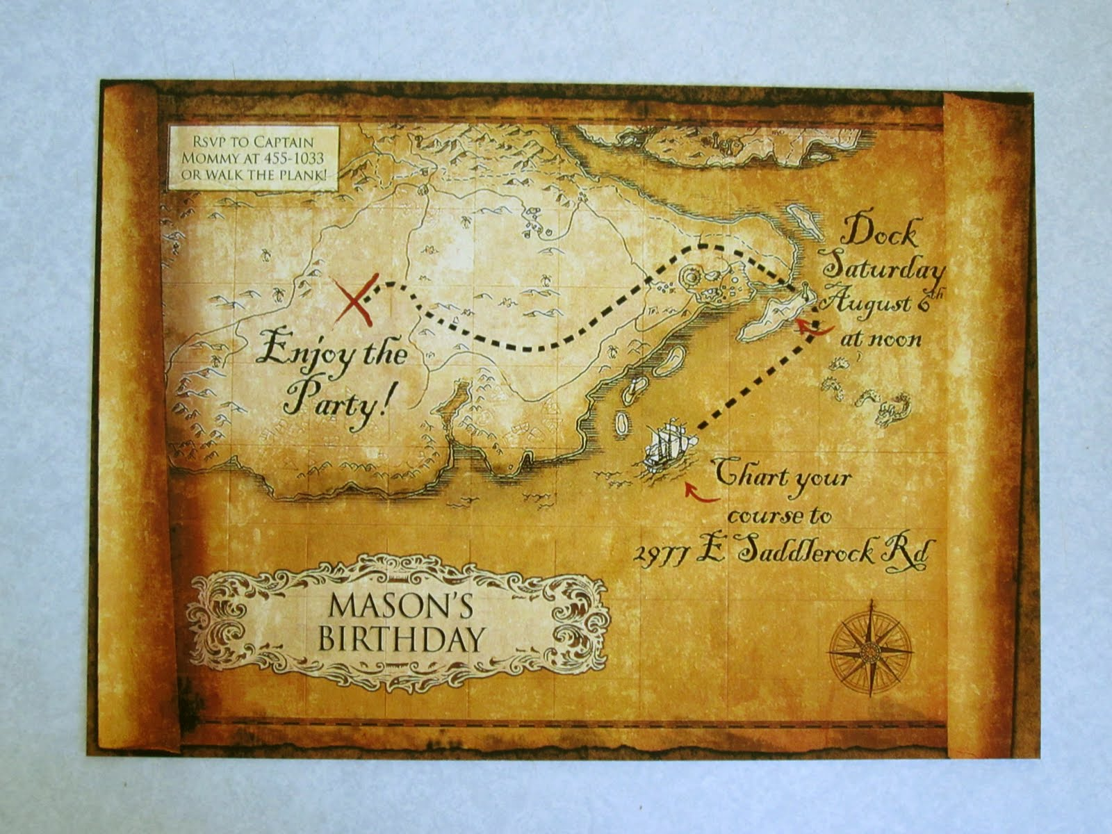 DIY Pirate Party Invitations (Works For Any Beach Theme) | A ...