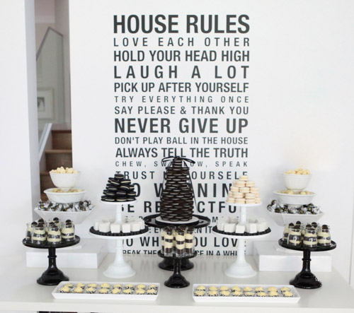 I Love A Striking Black And White Party So Simple Elegant Leanne Designed The Table For Her Sister In Laws 40th Birthday