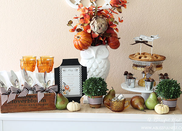 Thanksgiving Table Setting – Buffet Style