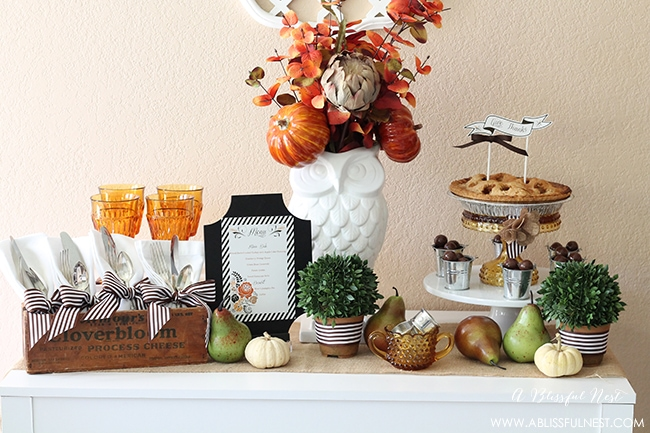 & Thanksgiving Table setting Decorating Inspiration