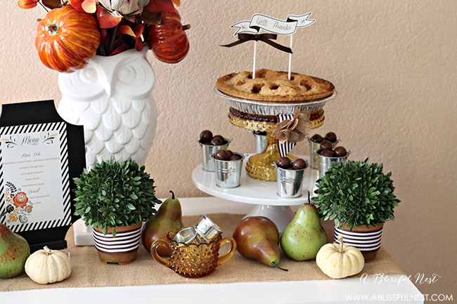 Thanksgiving Table Ideas by A Blissful Nest