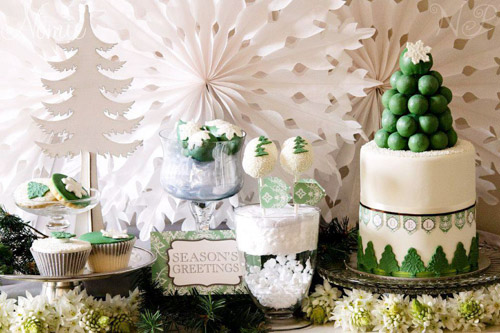 BN Black Book Of Parties Green And White Christmas