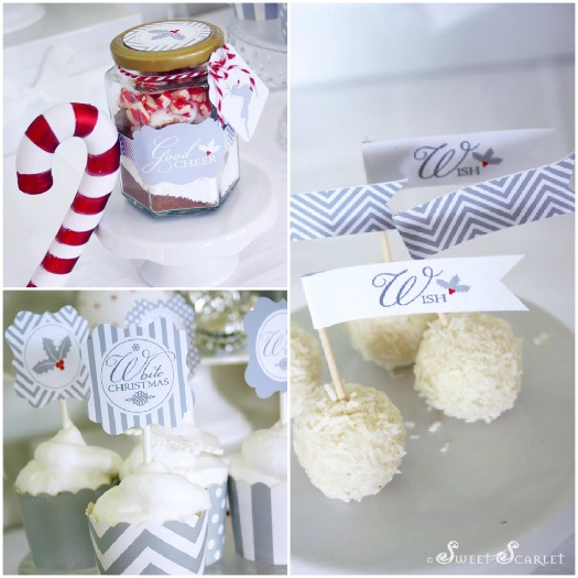 A Blissful Nest - Sweet Scarlet White Christmas desserts