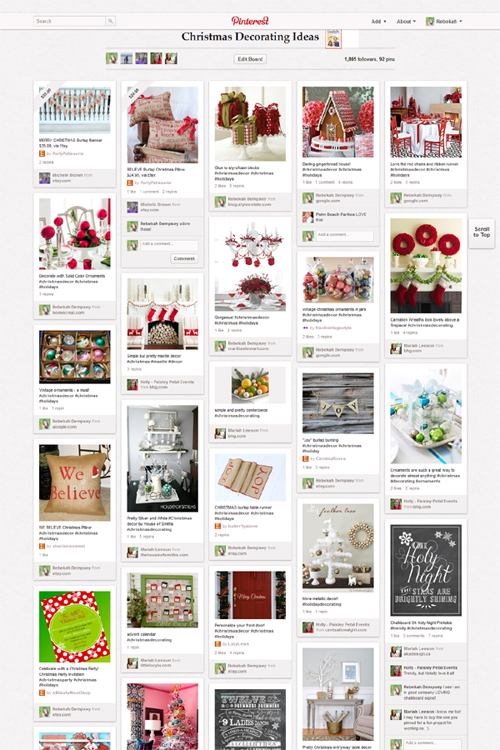 Christmas Decorating Ideas A Blissful Nest Pinterest Party   Christmas Decorating Ideas Unveiled!
