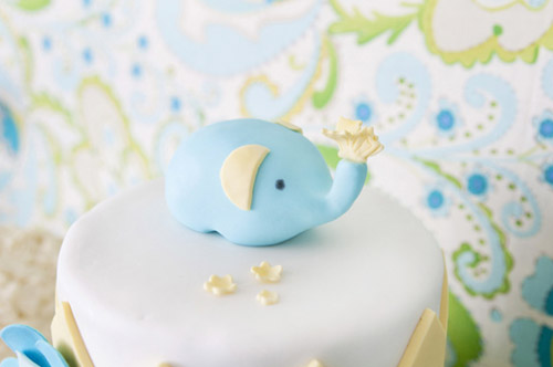 Boho chic brithday cake elephant topper