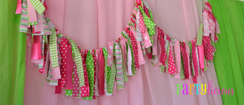 Watermelon Berry Birthday fabric garland