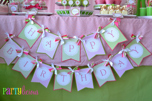 Watermelon Berry Birthday banner