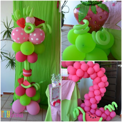 Watermelon Berry balloon sculptures