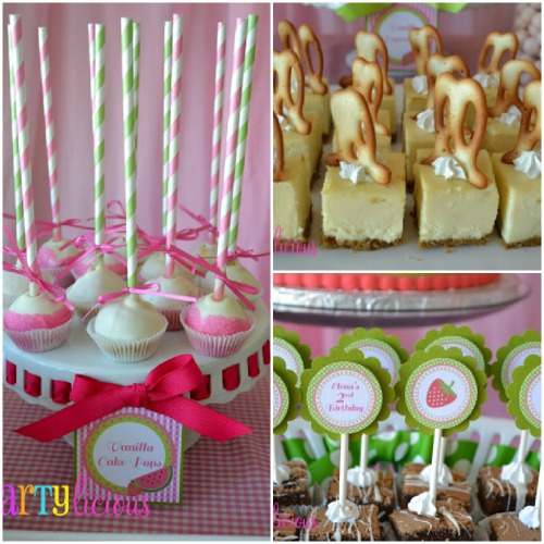 Watermelon Berry Birthday party desserts