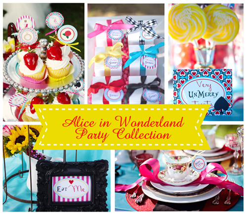 Bn black book of parties alice in wonderland party for Alice in wonderland birthday decoration ideas