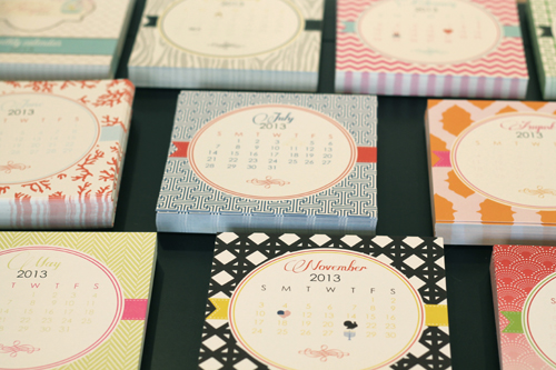 Modern Desk Calendars - A Blissful Nest