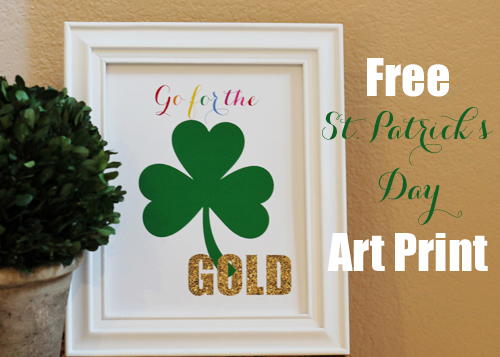 Free St Patricks Day Printable Frame Art - A Blissful Nest 003