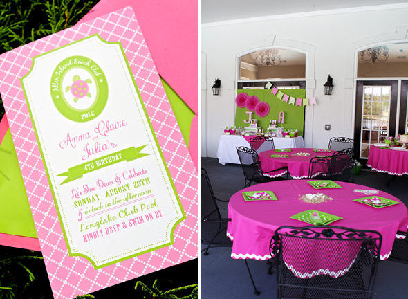 Pink And Green Sea Turtle Party 15