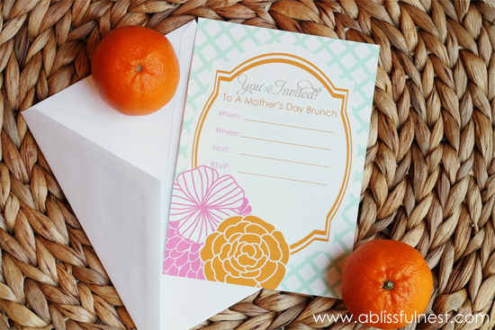 Mother's Day Brunch Luncheon Invitation - A Blissful Nest