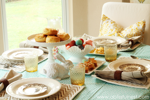 Spring Table Setting Ideas - A Blissful Nest