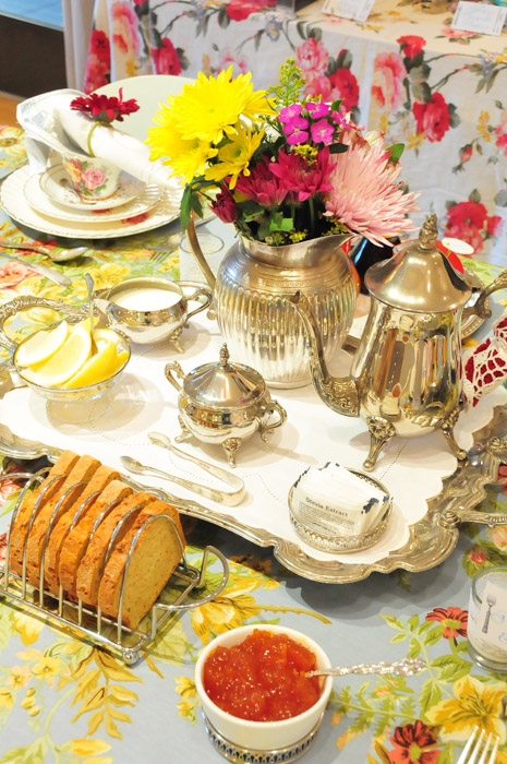 Vintage Tea Party baby shower tea set centerpiece