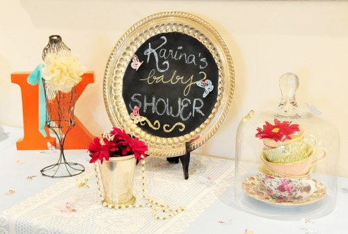 {BN Black Book of Parties} Vintage Tea Party Baby Shower