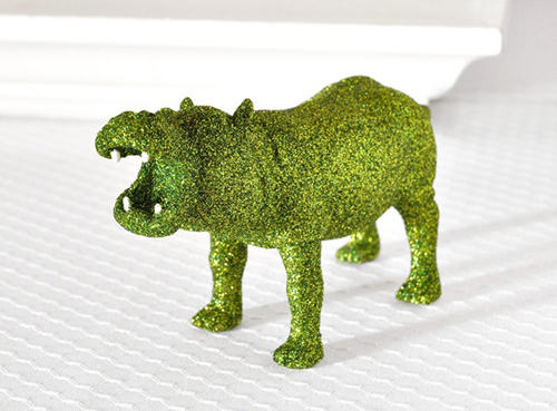 Glitter Green Hippo - A Blissful Nest